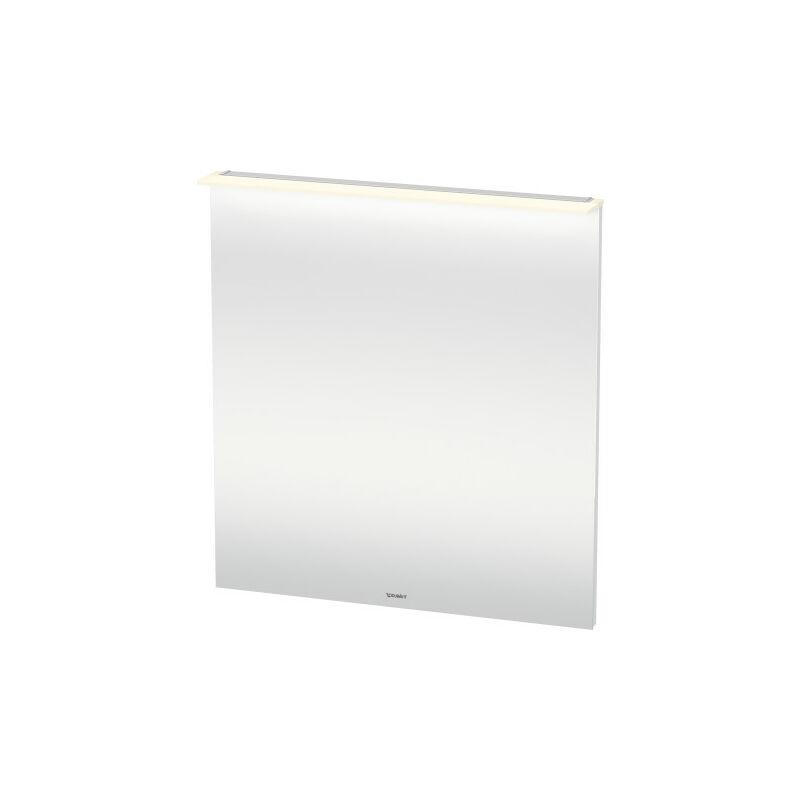 DURAVIT X-Large miroir avec éclairage, 800 x 860 x 36/105mm, Couleur (avant/corps): Noyer brossé Placage bois véritable - XL749406969 - Duravit