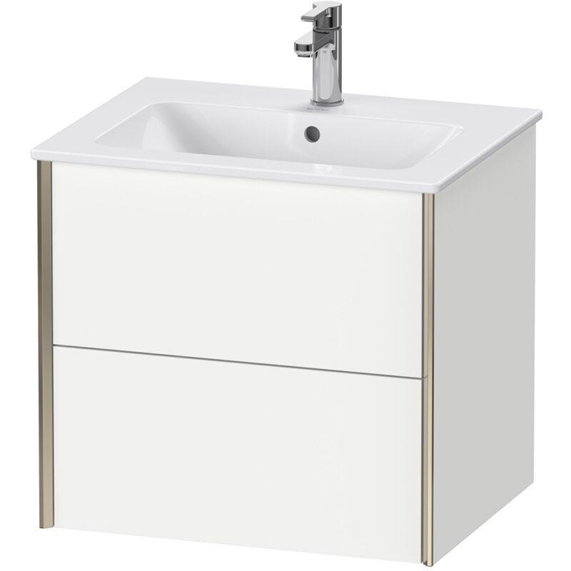 DURAVIT AG Duravit XViu 4125 Meuble-lavabo mural, 2 tiroirs, pour meuble-lavabo Me by Starck 233663, 610x480 mm, Couleur (avant/corps): noir mat/noyer brossé