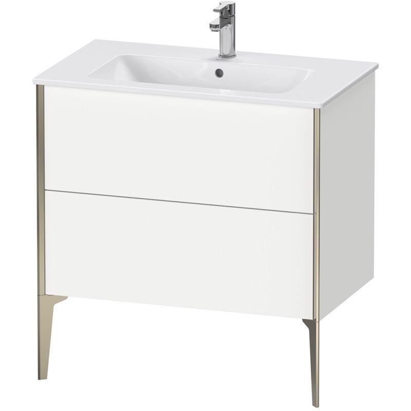 DURAVIT AG Duravit XViu 4482 Meuble sous-lavabo vertical, 2 tiroirs, pour lavabo ME by Starck 233683, 810x480 mm, Couleur (avant/corps): noir mat/noyer brossé