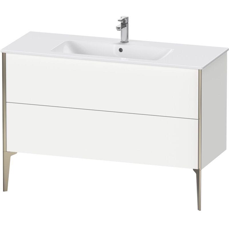 DURAVIT AG Duravit Xviu 4484 Meuble sous-lavabo vertical, 2 tiroirs, pour lavabo ME by Starck 233612, 1210x480 mm,, Couleur (avant/corps): noir mat/chêne brossé