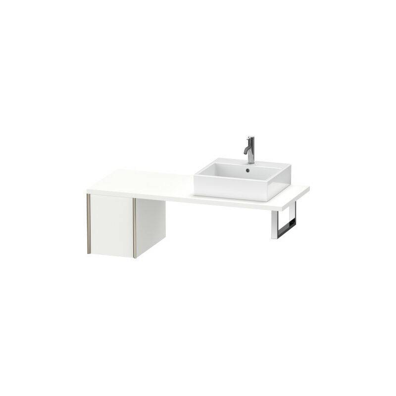 DURAVIT AG Duravit XViu meuble bas pour console, 1 tiroir, 33,2 x 54,8cm, Couleur (avant/corps): champagne mat/noyer brossé - XV59300B169