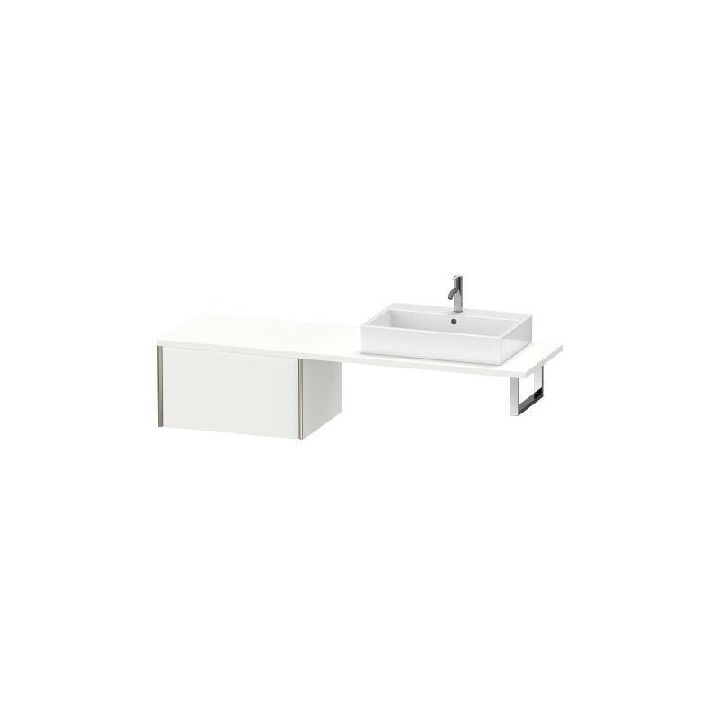 DURAVIT AG Duravit XViu meuble bas pour console, 1 tiroir, 73,2 x 54,8cm, Couleur (avant/corps): champagne mat / chêne brossé - XV59540B112