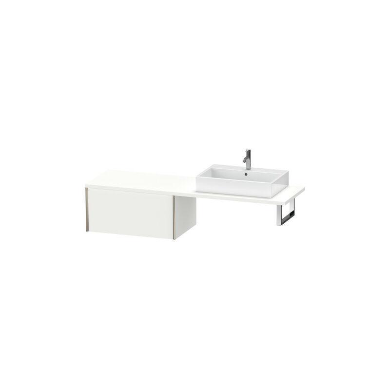 DURAVIT AG Duravit XViu meuble bas pour console, 1 tiroir, 83,2 x 54,8cm, Couleur (avant/corps): champagne mat / chêne brossé - XV59340B112