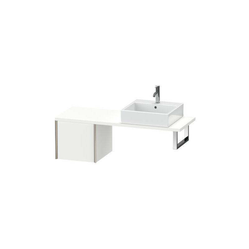 DURAVIT AG Duravit XViu meuble bas pour console compact, 1 tiroir, 43,2 x 47,8cm, Couleur (avant/corps): noir mat/noyer brossé - XV59210B269