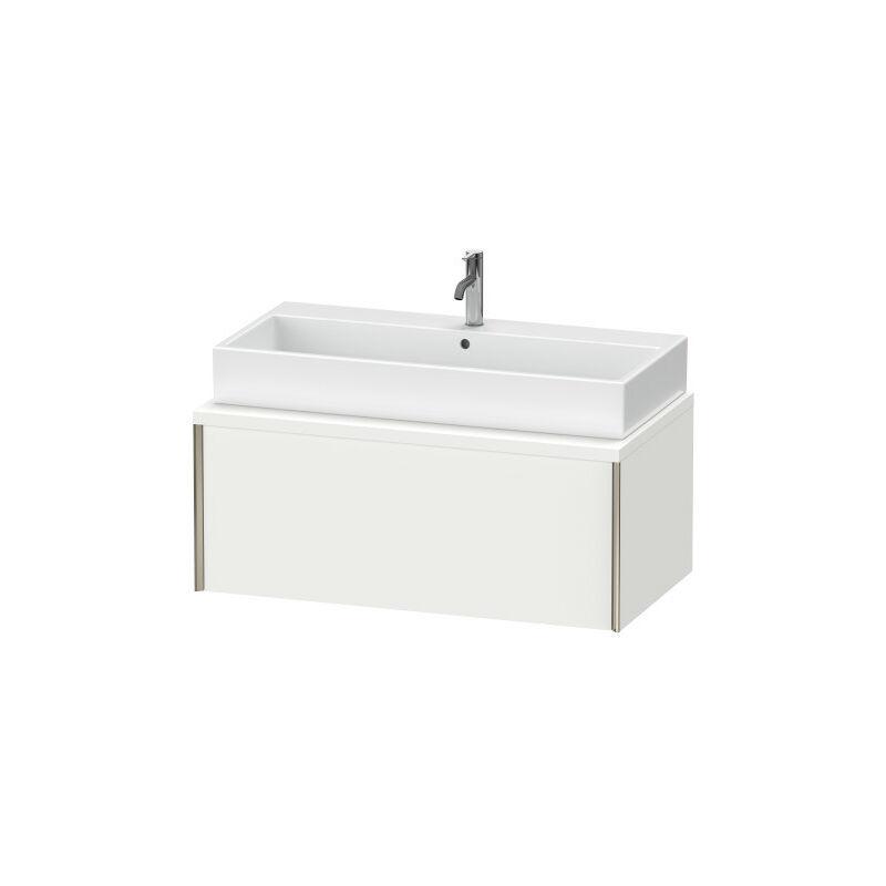 DURAVIT AG Duravit XViu meuble-lavabo pour console, 1 tiroir, 103,2 x 54,8cm, Couleur (avant/corps): noir mat/noyer brossé - XV59140B269