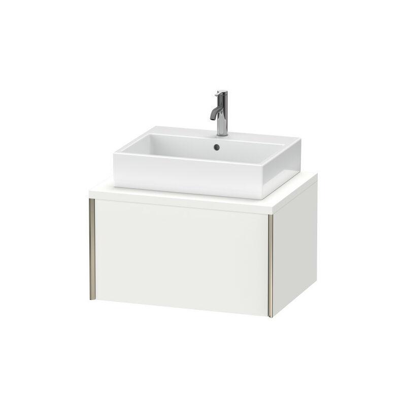 DURAVIT AG Duravit XViu meuble-lavabo pour console, 1 tiroir, 73,2 x 54,8cm, Couleur (avant/corps): champagne mat / chêne brossé - XV59110B112