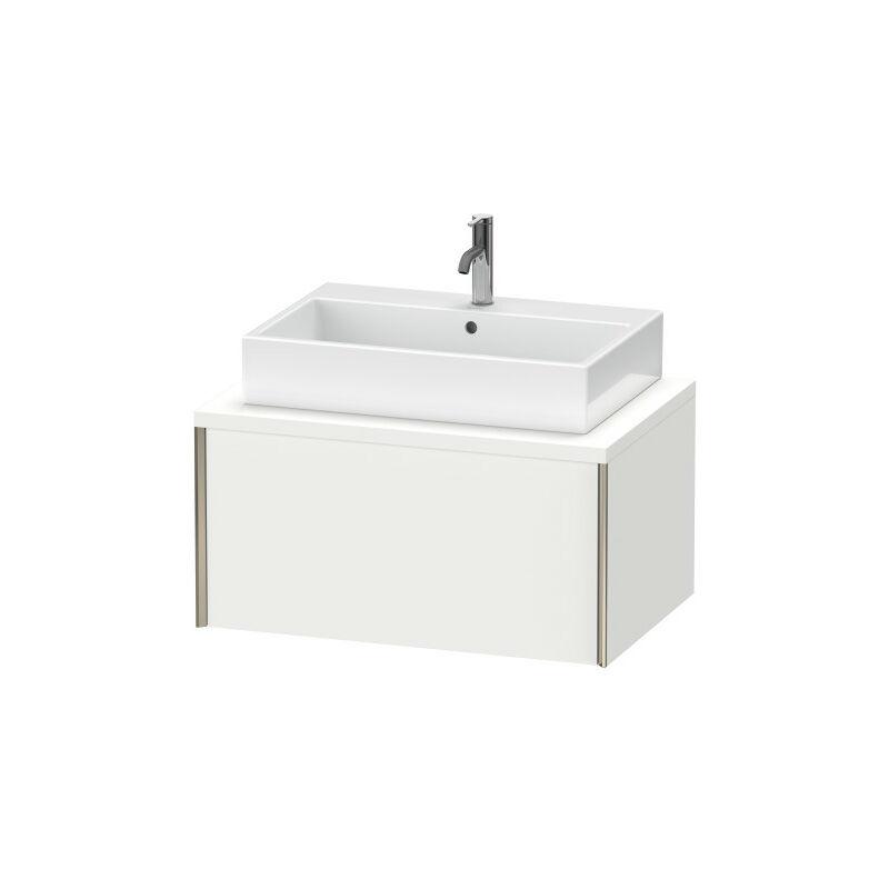 DURAVIT AG Duravit XViu meuble-lavabo pour console, 1 tiroir, 83,2 x 54,8cm, Couleur (avant/corps): noir mat/noyer brossé - XV59120B269