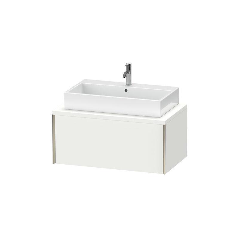 DURAVIT AG Duravit XViu meuble-lavabo pour console, 1 tiroir, 93,2 x 54,8cm, Couleur (avant/corps): noir mat/chêne brossé - XV59130B212