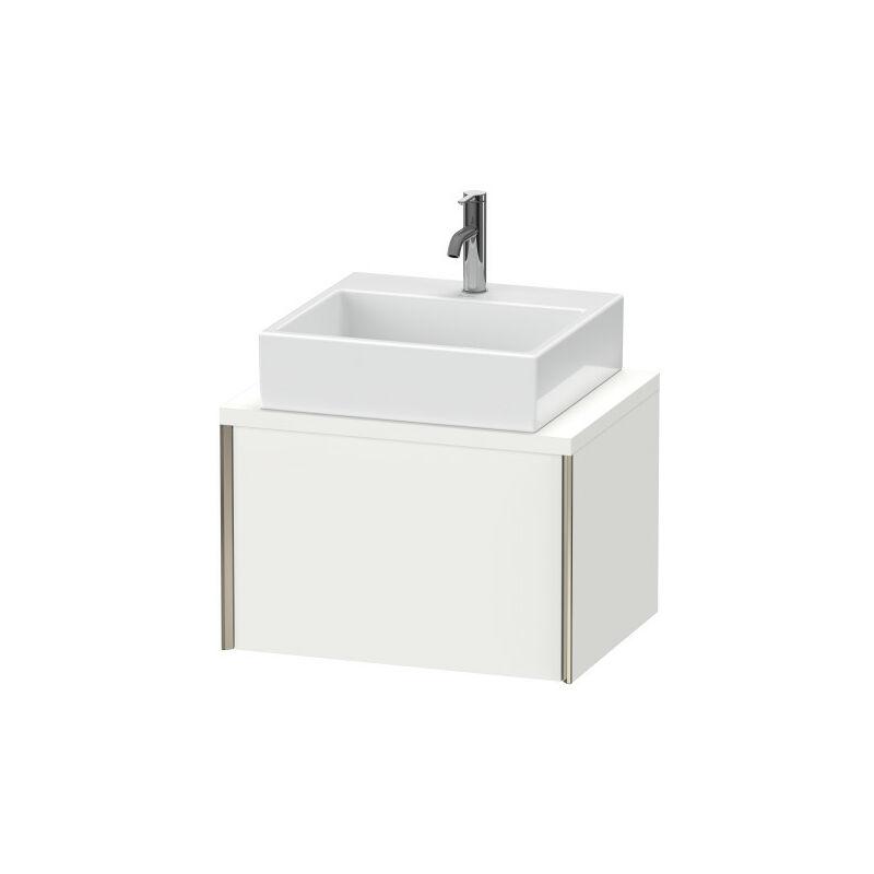 DURAVIT AG Duravit XViu meuble-lavabo pour console compacte, 1 tiroir, 63,2 x 47,8cm, Couleur (avant/corps): noir mat/chêne brossé - XV59000B212
