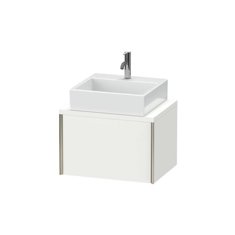 DURAVIT AG Duravit XViu meuble-lavabo pour console compacte, 1 tiroir, 63,2 x 47,8cm, Couleur (avant/corps): champagne mat / chêne brossé - XV59000B112
