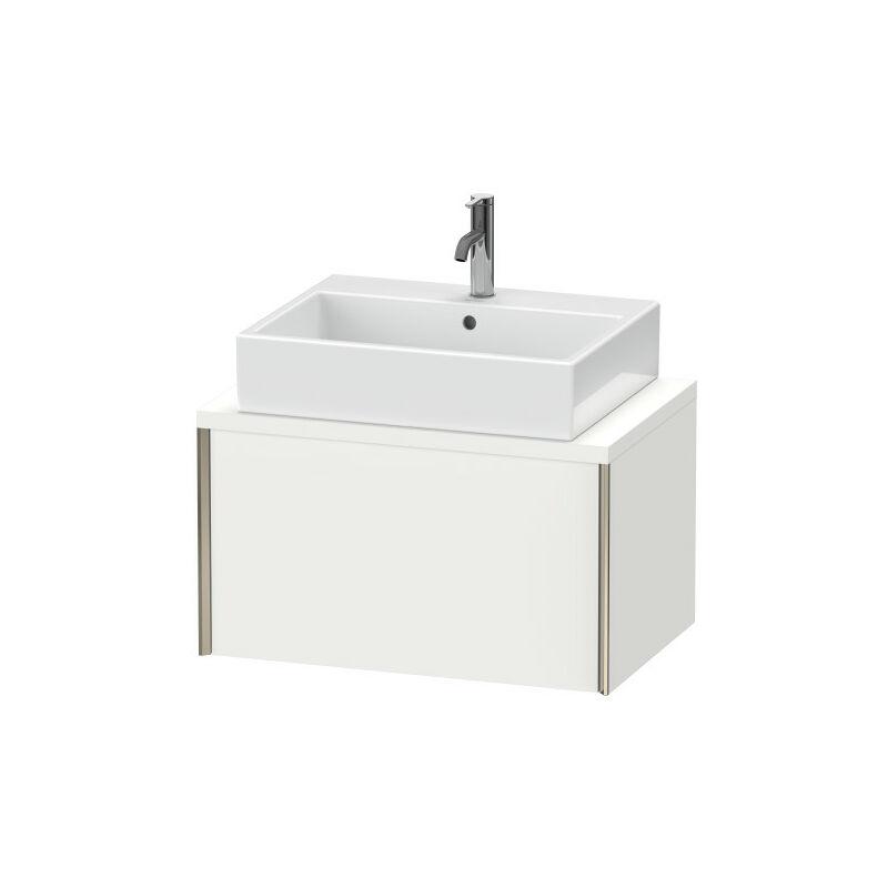 DURAVIT AG Duravit XViu meuble-lavabo pour console compacte, 1 tiroir, 73,2 x 47,8cm, Couleur (avant/corps): champagne mat / chêne brossé - XV59010B112