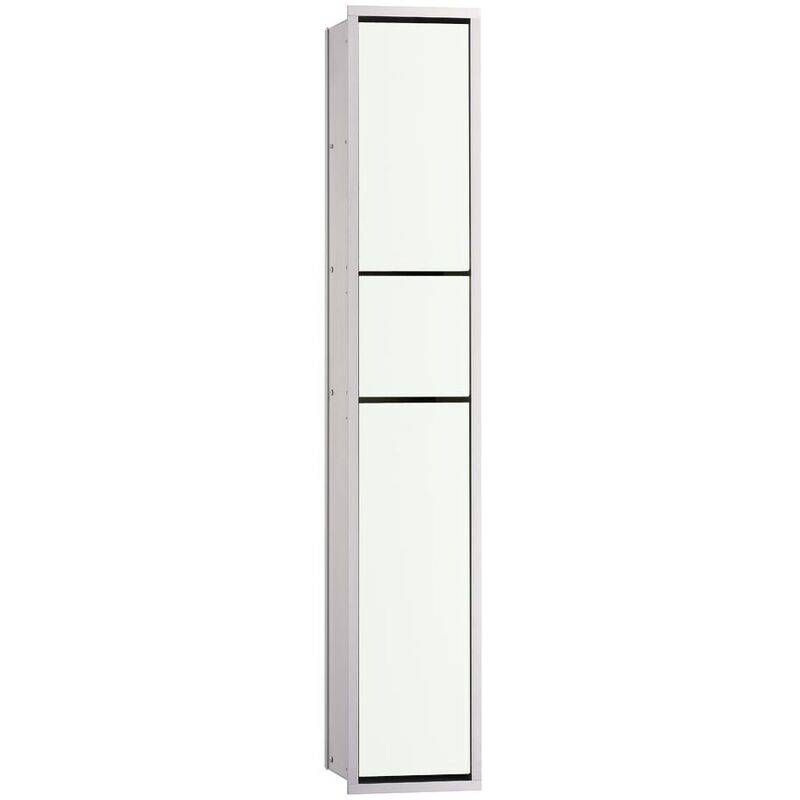 EMCO asis module 150 module WC invités encastré modèle, porte-poubelle, porte-papier, porte-papier, set de brosses de toilette, Coloris: