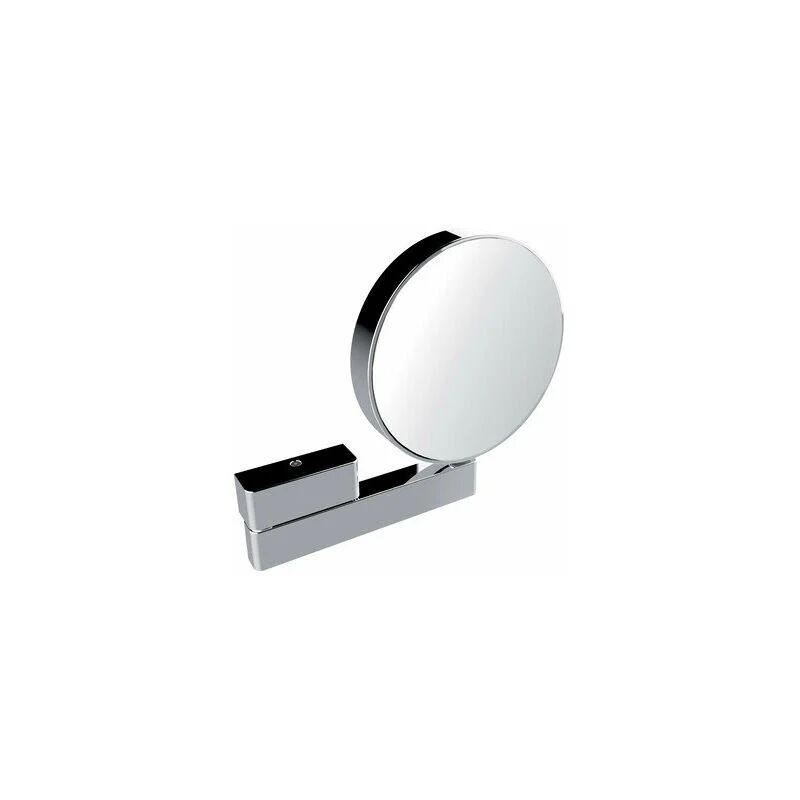 EMCO Miroir cosmétique et de rasage réfléchissant des deux côtés, grossissement 3x et 7x, rond, sur bras articulé, non éclairé - 109500117 - Emco