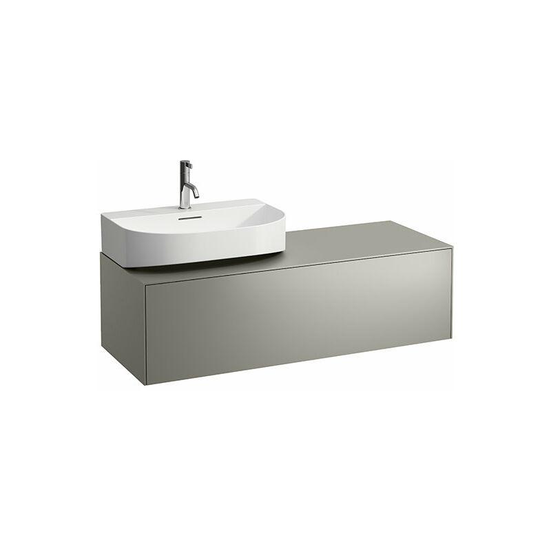 LAUFEN Tiroir Sonar en cours d'utilisation, 1 tiroir, adapté au lavabo H816341, H816342, découpe à gauche pour le lavabo, Coloris: Titane / Nero Marquina