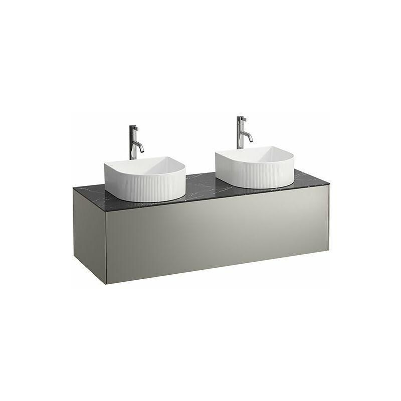 LAUFEN Tiroir Sonar en cours d'utilisation, 1 tiroir, adapté aux cuvettes de lavabo 812340, 812341, 812342, 812343, découpe à gauche et à droite pour le