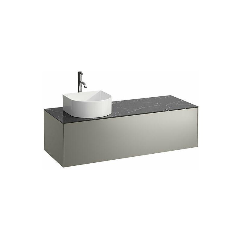 LAUFEN Tiroir Sonar en cours d'utilisation, 1 tiroir, adapté aux cuvettes de lavabo 812340, 812341, 812342, 812343, découpe à gauche pour le lavabo et le