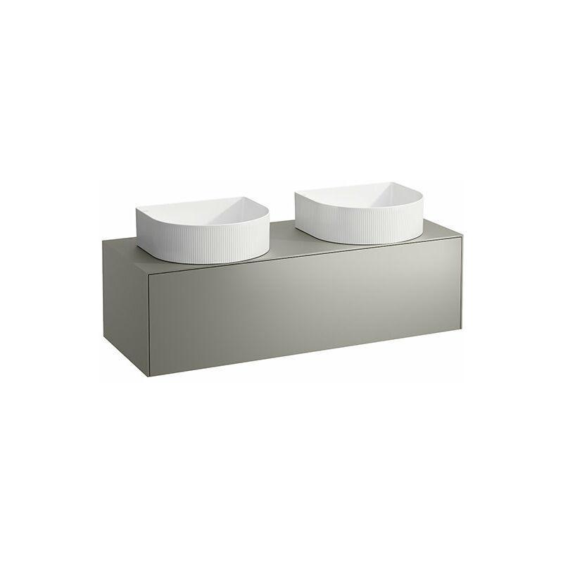 LAUFEN Tiroir Sonar en cours d'utilisation, 1 tiroir, adapté aux cuvettes des lavabos 812340, 812341, 812342, 812343, découpe à gauche et à droite pour le