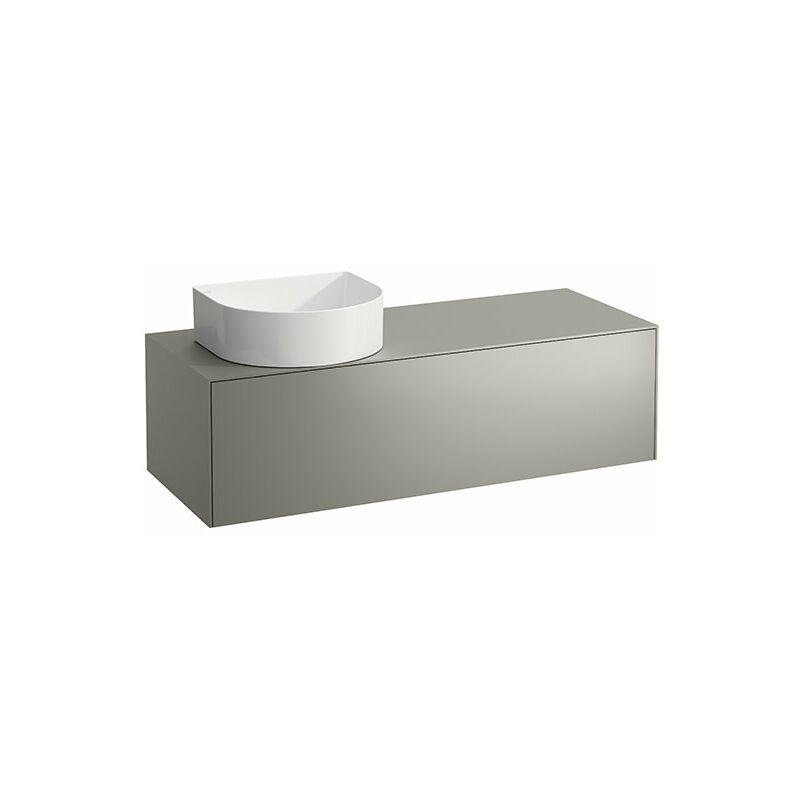 LAUFEN Tiroir Sonar en cours d'utilisation, 1 tiroir, adapté aux cuvettes des lavabos 812340, 812341, 812342, 812343, découpe à gauche pour le lavabo,