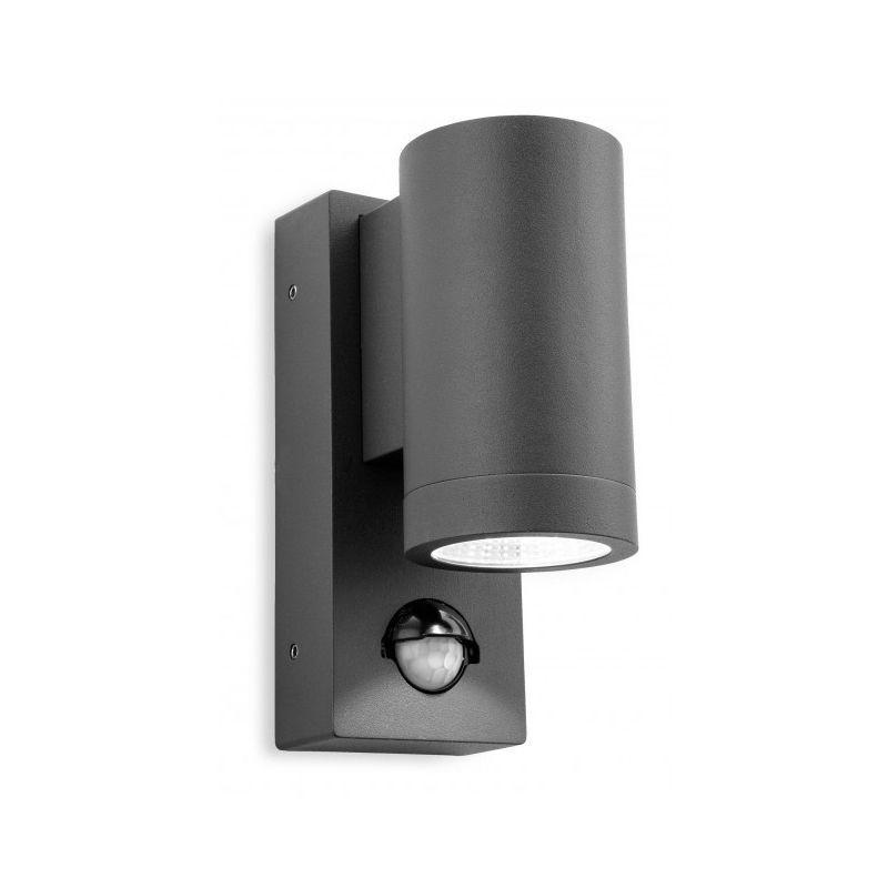 FIRSTLIGHT Applique 1 ampoule Shelby avec détecteur, graphite