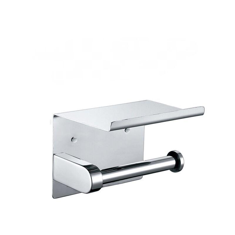 THSINDE 1pcs Porte Papier Toilette 304 Acier Inoxydable Support Papier Rouleau Installation avec Vis ou 3M Adhésif Haute Brillance