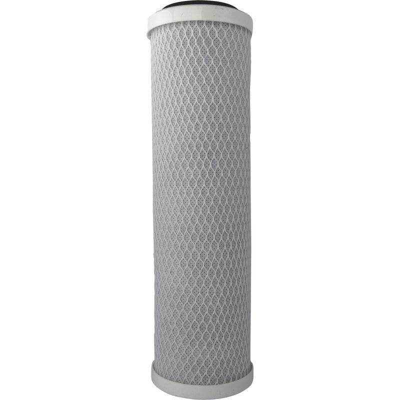 Aquawater - Cartouche 2 en 1 pour eau de boisson : filtration et anti-goût et odeurs - Taille standard 10'- Durée 12 mois