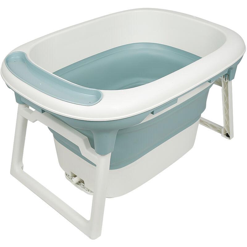 Yongqing - Baignoire bébé - Foldable - 3 en 1 rétractable et pliable - Bleu - Bleu