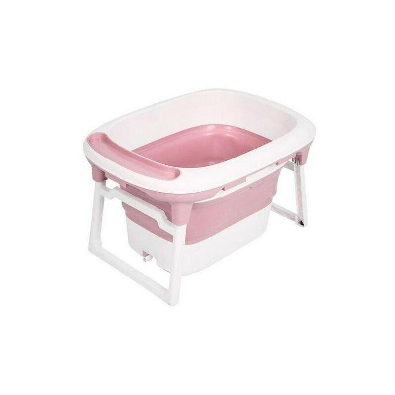 Yongqing - Baignoire bébé - Foldable - 3 en 1 rétractable et pliable - Rose - Rose