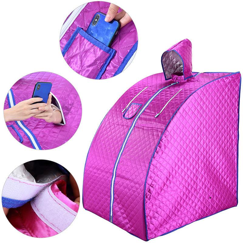 BATHRINS ®Sauna Infrarouge et Portable,Spa à Domicile pour une Personne,Idéal pour la Désintoxication et la Perte de Poids violet - Bathrins