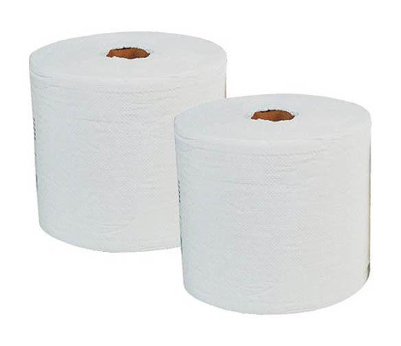 CODIS Bobine essuyage blanche 1000 feuilles 23x30 pure ouate 2 plis Lot de 2