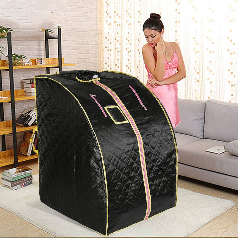 DAZHOM Boîte de sauna portable infrarouge - Spa a Domicile pour une Personne - Ideal pour la Desintoxication et la Perte de Poids