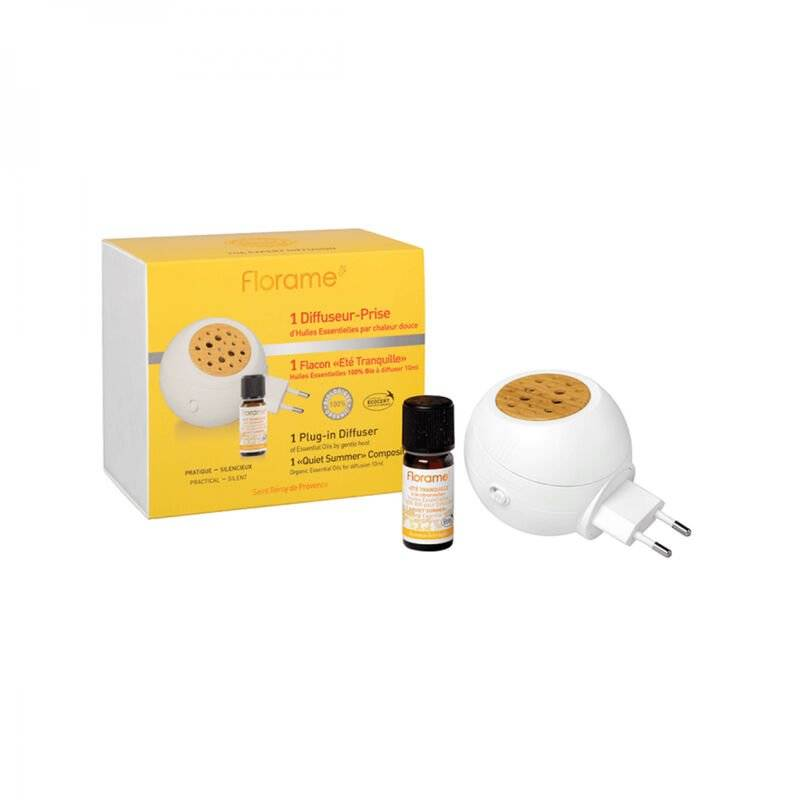 FLORAME Diffuseur prise anti-moustiques + 1 Huile essentielle à la citronnelle 10 ml Bio - Florame