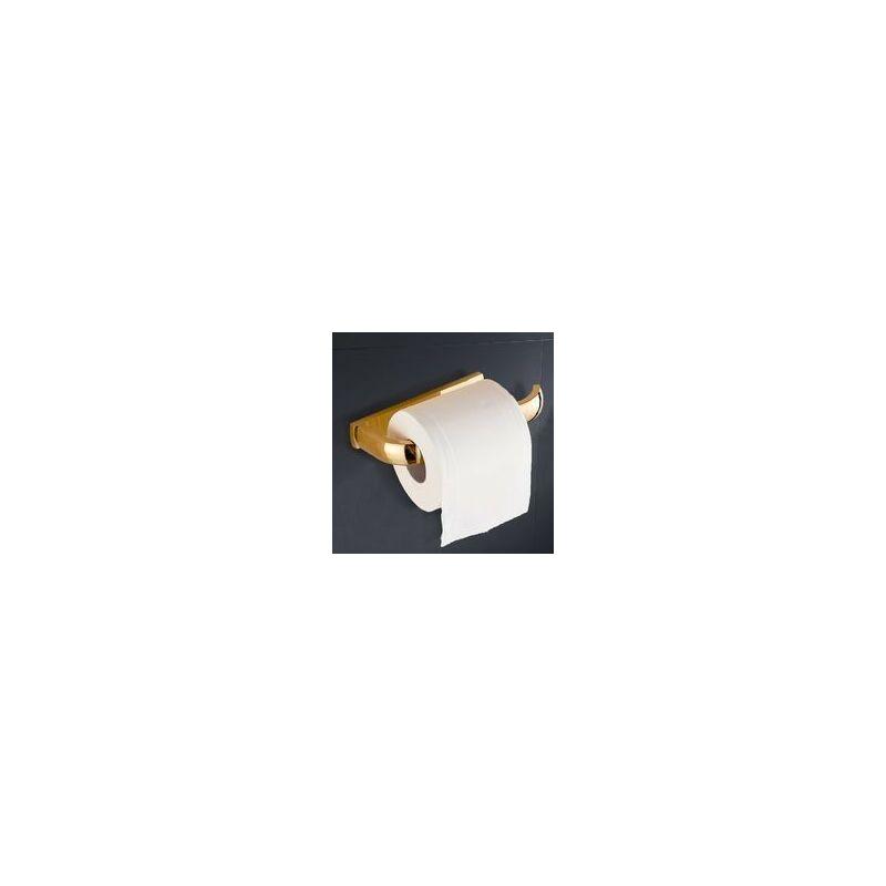 BANYO Dérouleur papier toilette / tablette laiton