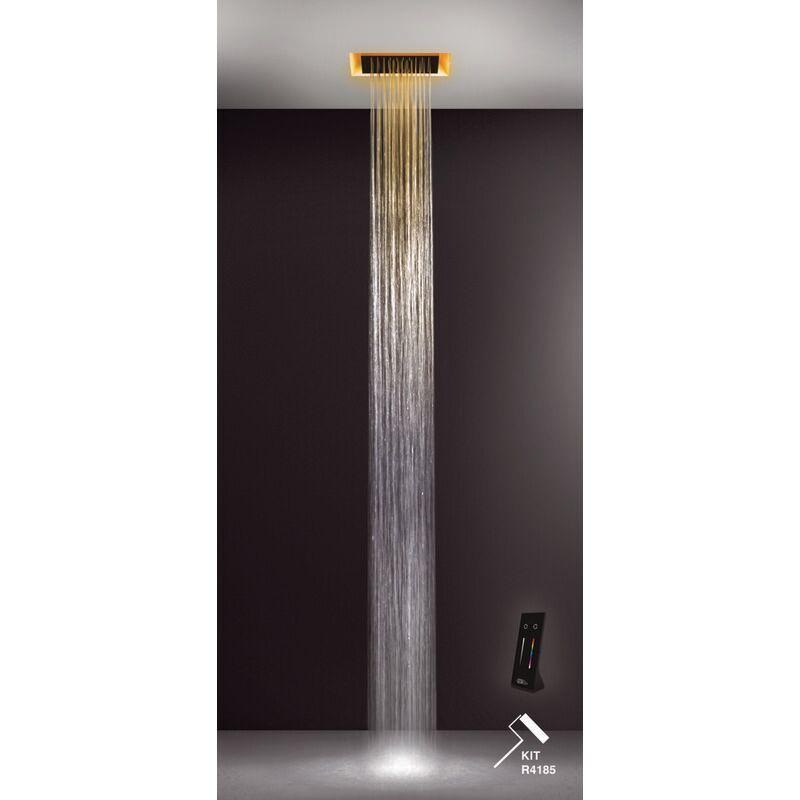 GESSI Afilo, Système de douche multifonctionnel 300x300, avec effet de luminothérapie, 57303279 - 57303279 - Gessi