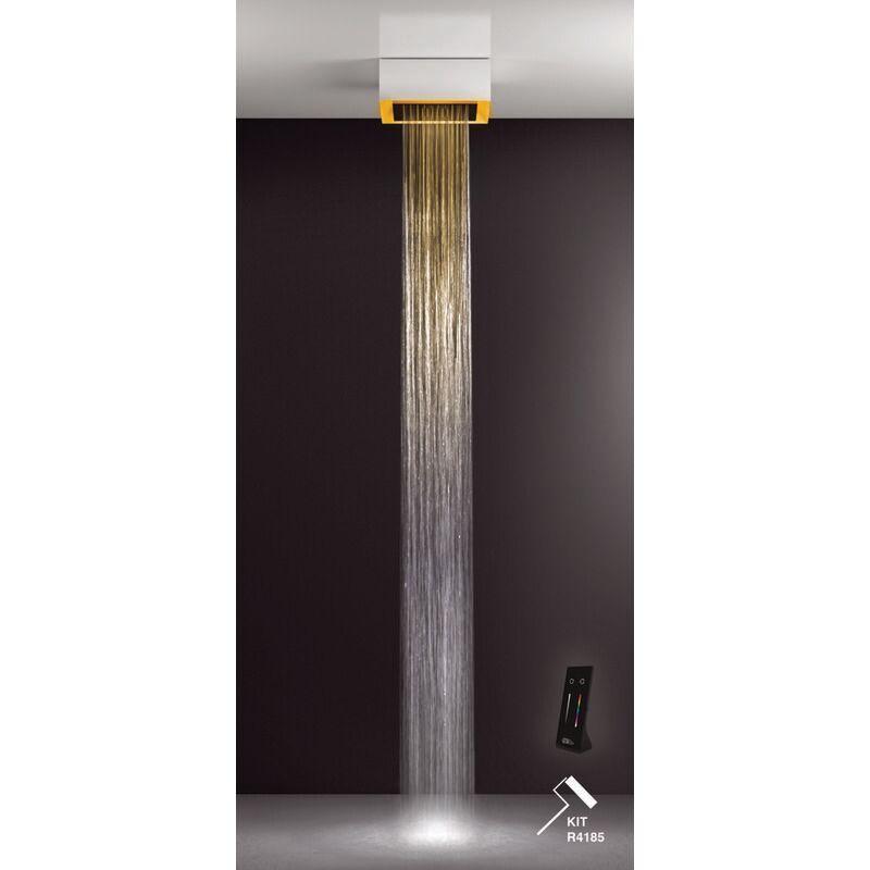 GESSI Afilo, système de douche multifonctionnel 300x300, jet de pluie, avec effet de luminothérapie, 57305279 - 57305279 - Gessi
