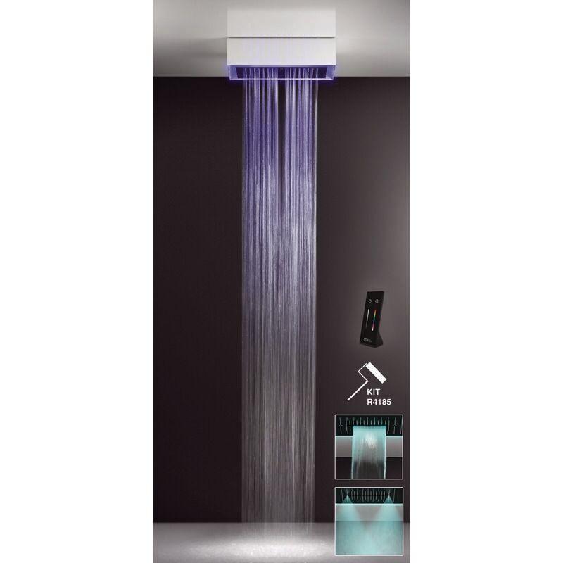 GESSI Afilo, système de douche multifonctionnel 300x500 avec effet de thérapie par lumière colorée, 57501279. - 57501279 - Gessi
