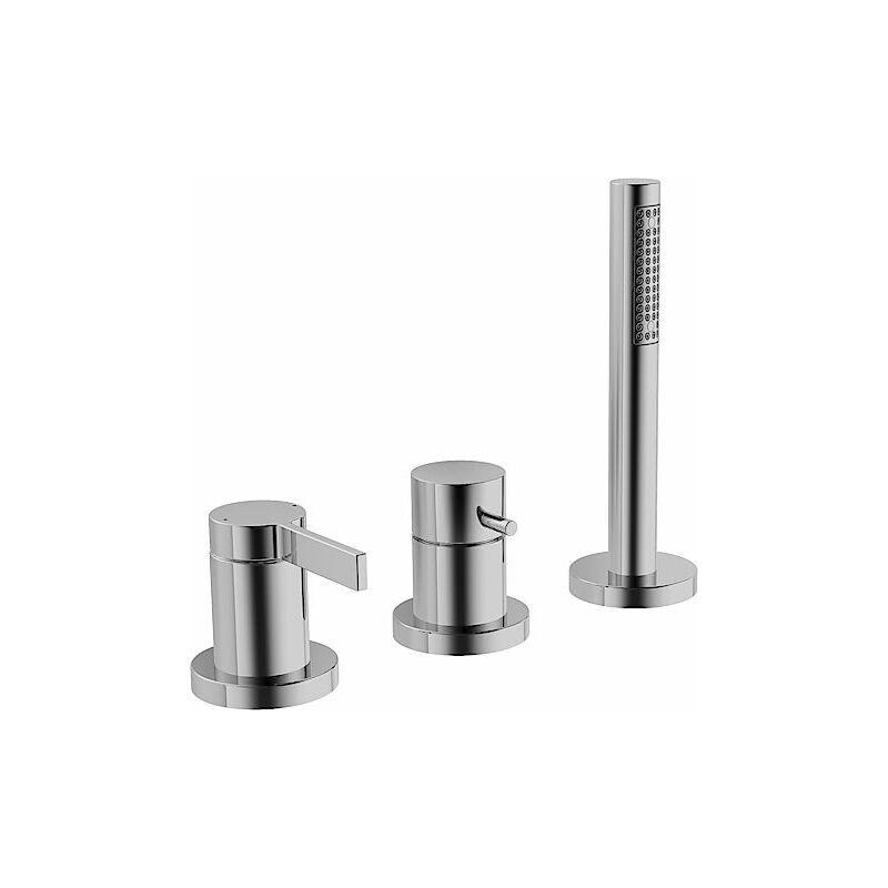 Hansa loft Kit de montage prêt à l'emploi Mitigeur monocommande pour tous les kits de montage 3 trous 5779 chromé - 57799073 - Hansa