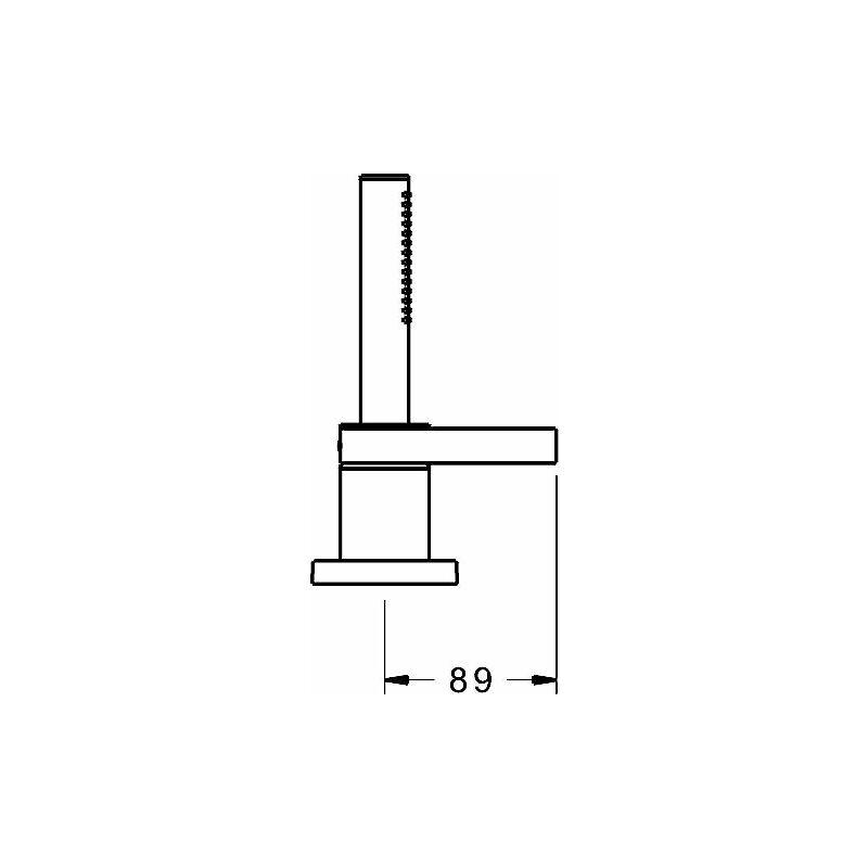 Hansa Hansaloft Kit de montage prêt à l'emploi Mitigeur monocommande pour tous les kits de montage 3 trous 5779, rosette carrée, chromé - 57799083