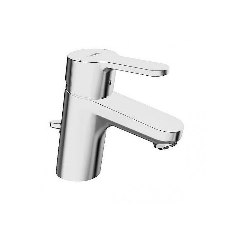 Hansa Hansaprimo Mitigeur monocommande de lavabo monotrou pour chauffe-eau à eau chaude ouverts avec vidage escamotable Projection 107 mm - 49571103
