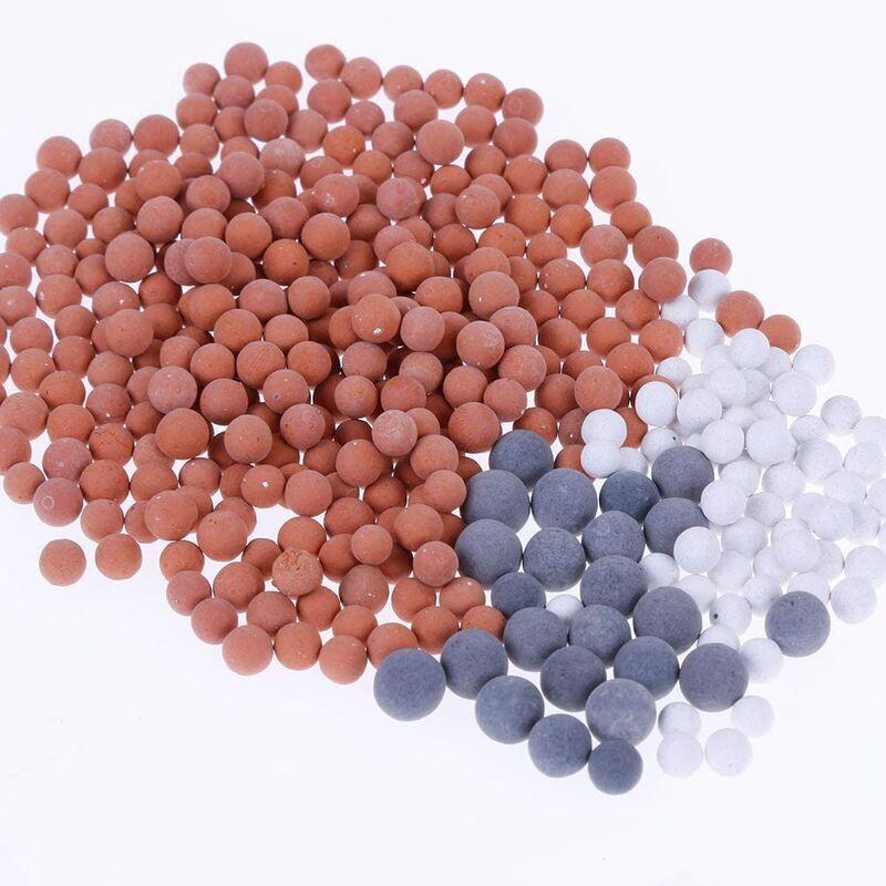 LITZEE 9 Paquets Pommeau Douche Anti Calcaire Ions Négatifs Mineraux Balles Replacement Filtre Minérale Balles - Litzee