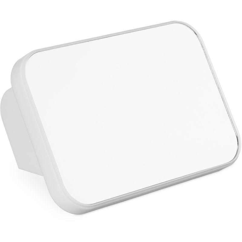 RELAXDAYS Miroir cosmétique maquillage portable de voyage, camping, Glace transportable pliable, cadre plastique, blanc