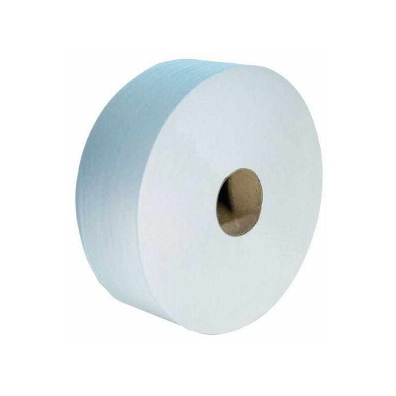 Logo-blanc - Pack 6 rouleaux de papier toilette maxi-jumbo gaufré - PWC00002