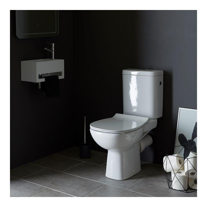 Planetebain - Pack wc à poser fastanta sortie horizontale avec traitement anti calcaire