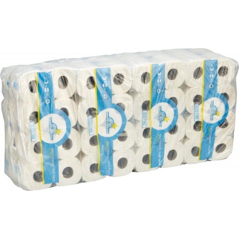 FP - Papier toilette Tissue 3 épai.blanc nat. 64 roul