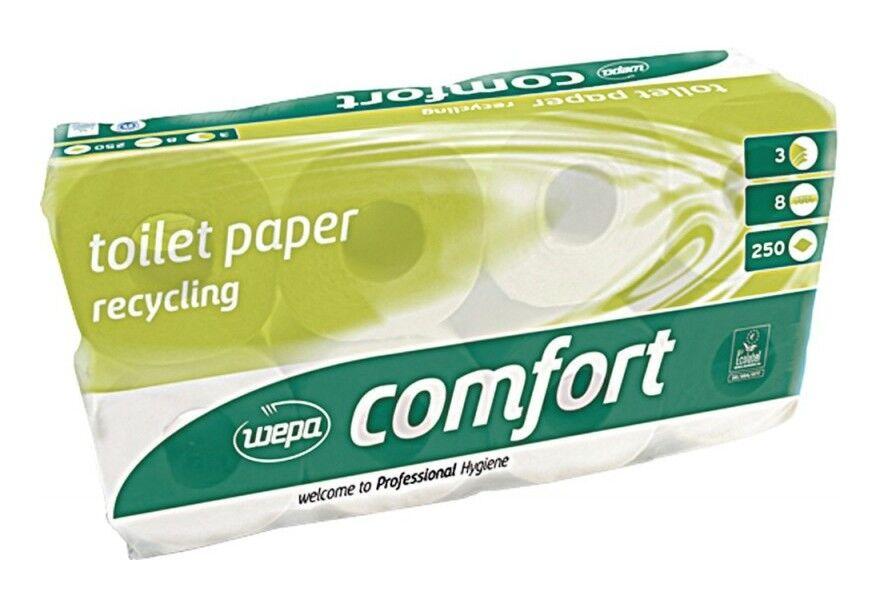 WEPA Papier toilette Comfort 3-plis - blanc 72 rouleau - Wepa