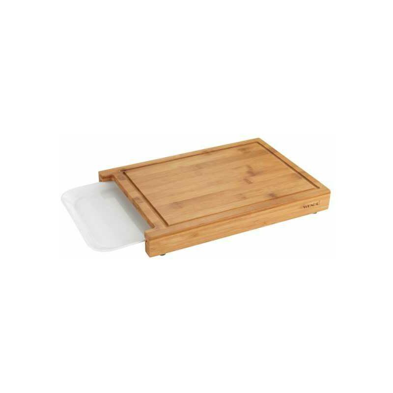 Wenko Planche à découper bois bambou avec compartiment amovible, Bruno