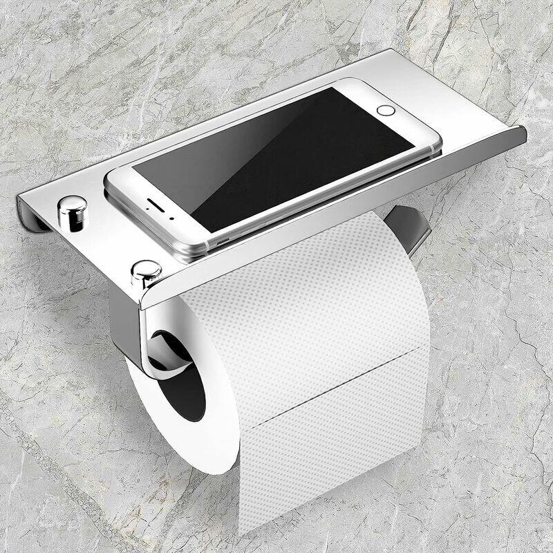 Betterlife - Porte Papier Toilette,Support Papier Toilette Derouleur Mural, 304 Acier Inoxydable Porte Rouleau Toilette, Installation avec Vis ou 3M
