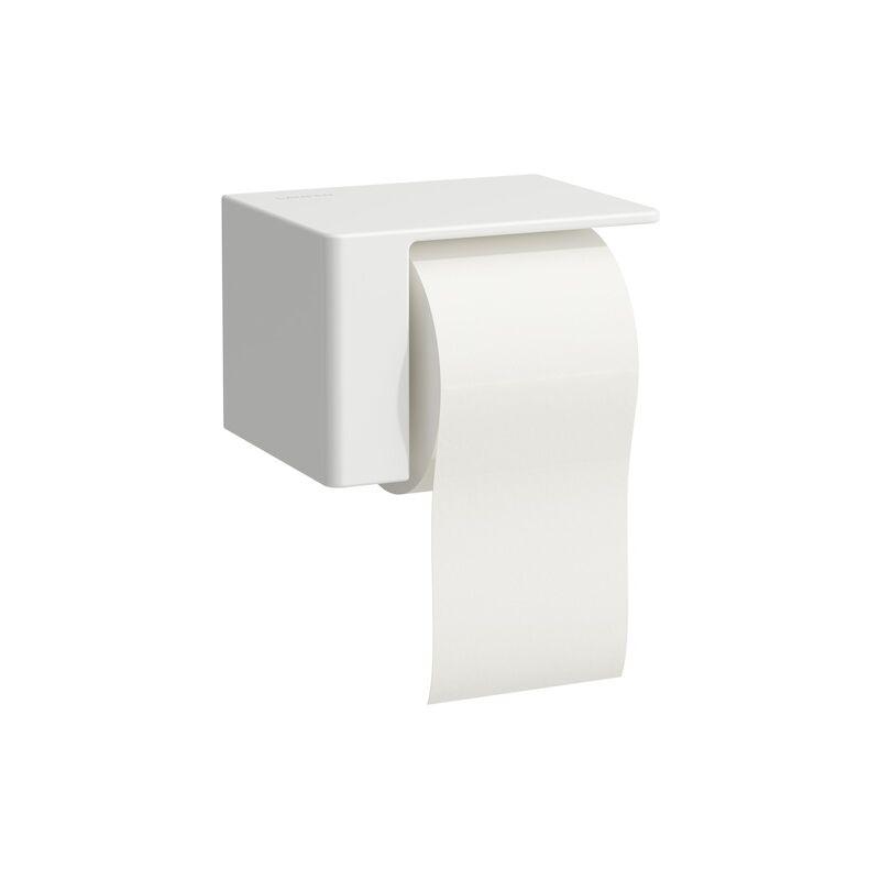 LAUFEN Porte-rouleau de papier VAL en cours d'utilisation, à droite, Coloris: Neige (blanc mat) - H8722807570001