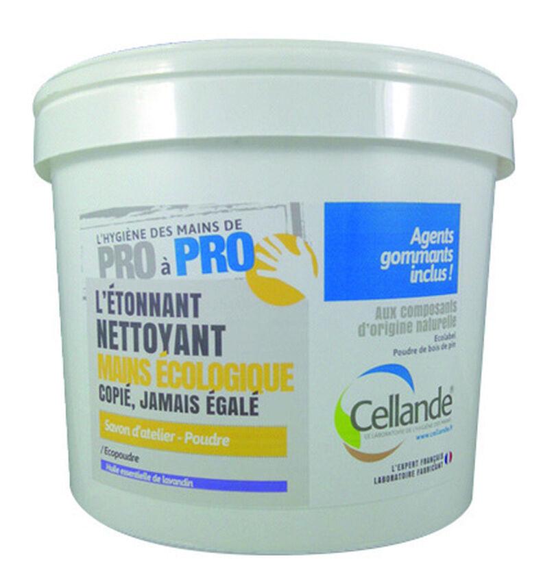 CELLANDE Poudre écologique pour les mains, efficace sur salissures résistantes - Seau de 5L - 504008CELCE - Cellande