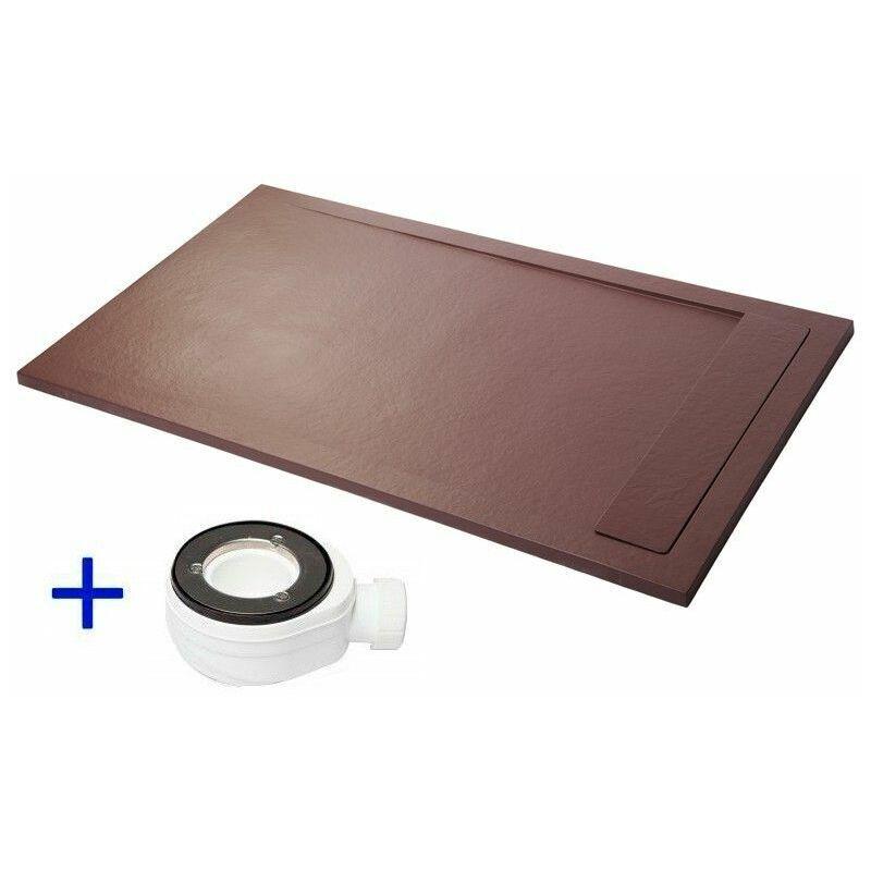 PDD Receveur de douche extra plat PREMIUM AMBIENTE Chocolat Ral 8017 70x100