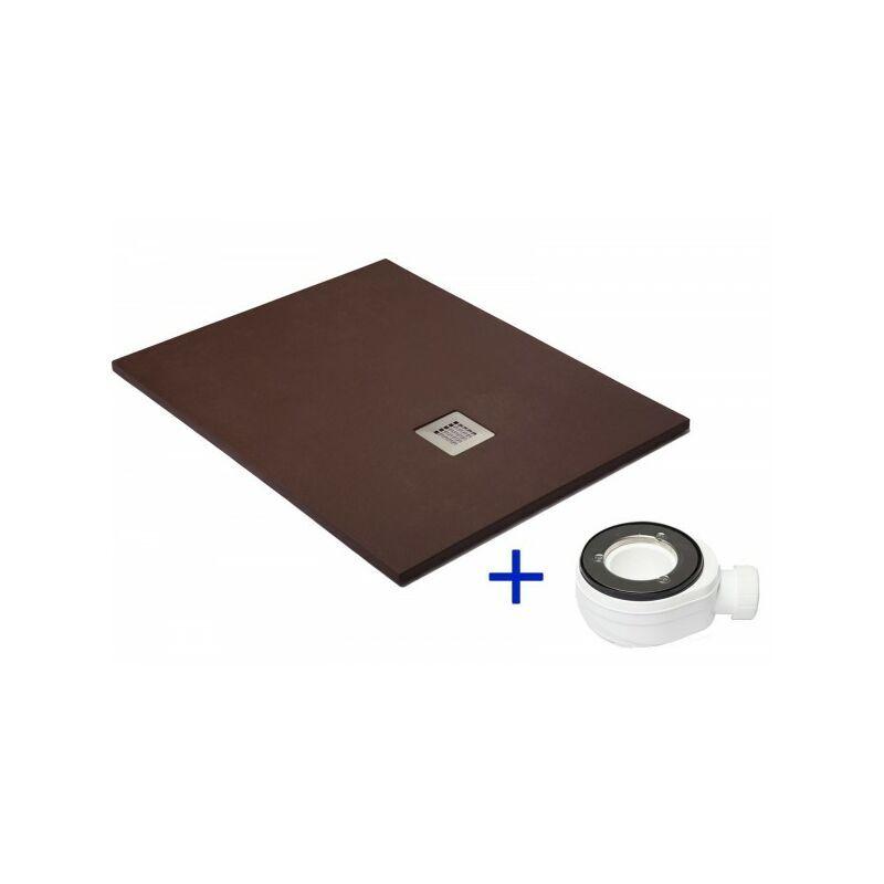 PDD Receveur de douche extra plat QUARTZ Chocolat Ral 8017 100X140